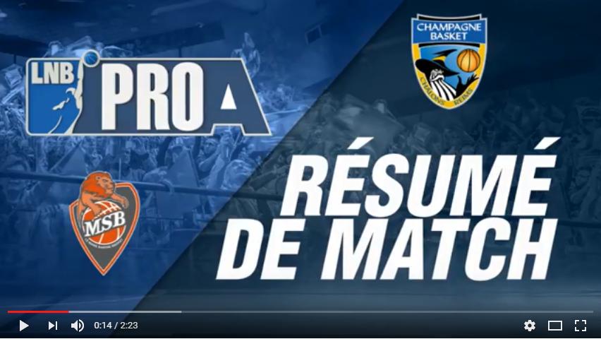 Résumé Vidéo MSB vs Châlons-Reims