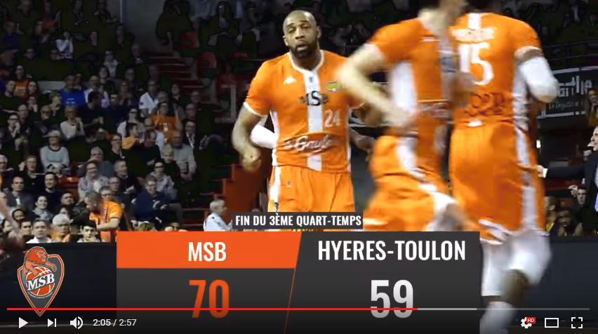 Résumé vidéo MSB vs Hyeres-Toulon / 23ème journée de Jeep® Elite